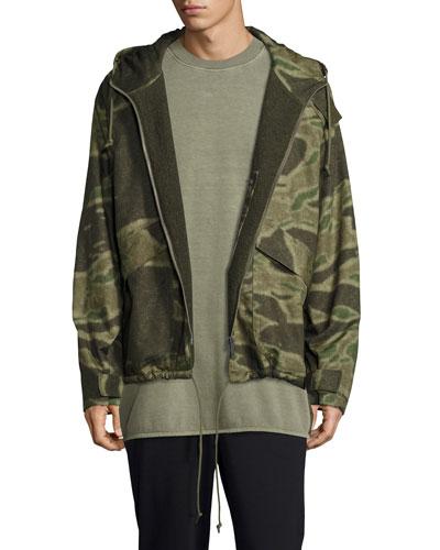 Camouflage-Print Anorak Jacket