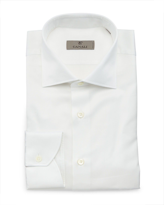 Textured Dress Shirt, White