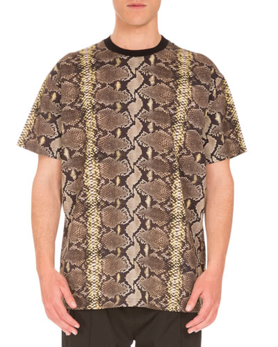 Columbian-Fit Snakeskin-Print T-Shirt, Multicolor