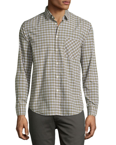 Kirby Check Oxford Shirt, Green