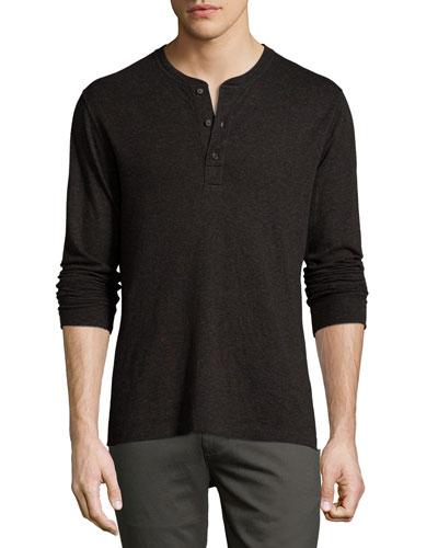 Harper Henley T-Shirt, Black
