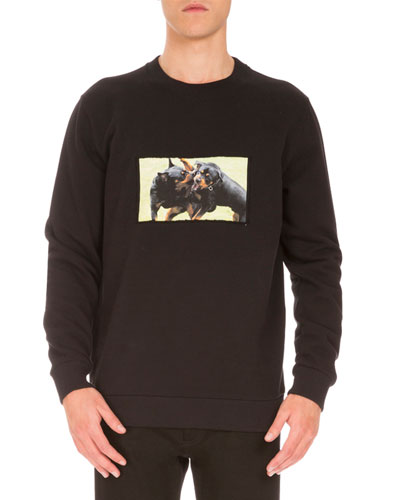 Cuban-Fit Rottweiler Sweatshirt, Black