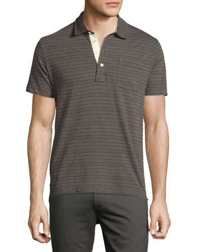 Pensacola Striped Polo Shirt, Gray