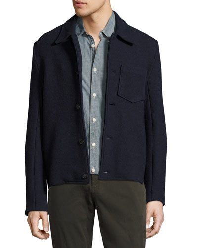 Gunner Boiled Wool Jacket, Navy