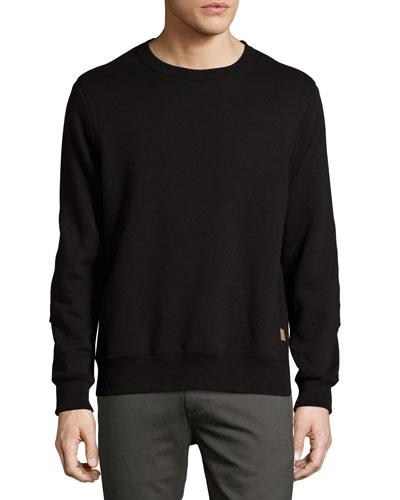 Dover French Terry Sweatshirt, Black