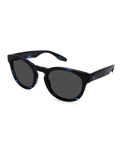 Men's Reece Universal Fit Round Sunglasses, Midnight