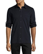 Jersey Pocket Shirt, Navy