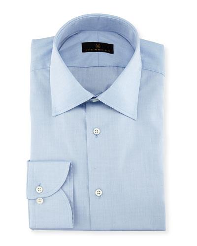 Gold Label Micro-Herringbone Cotton Dress Shirt