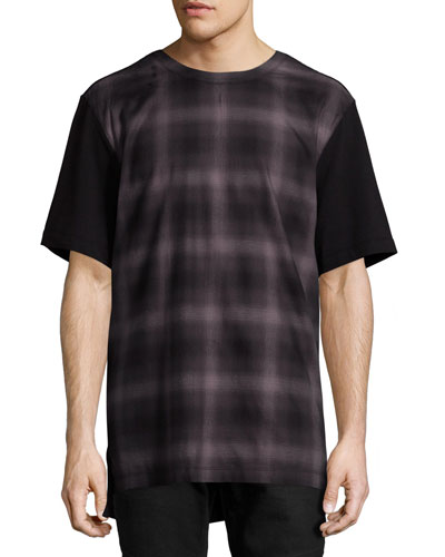 Gradient-Plaid T-Shirt