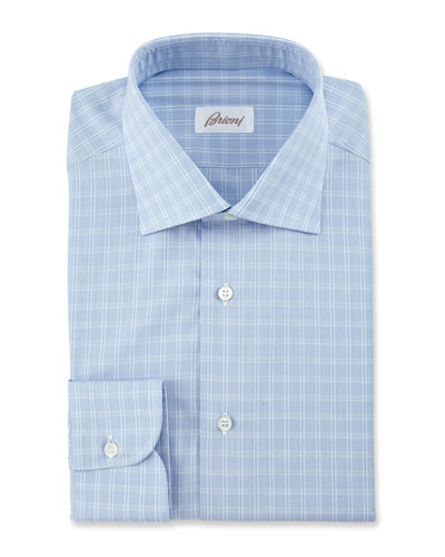 Box Check Dress Shirt, Blue
