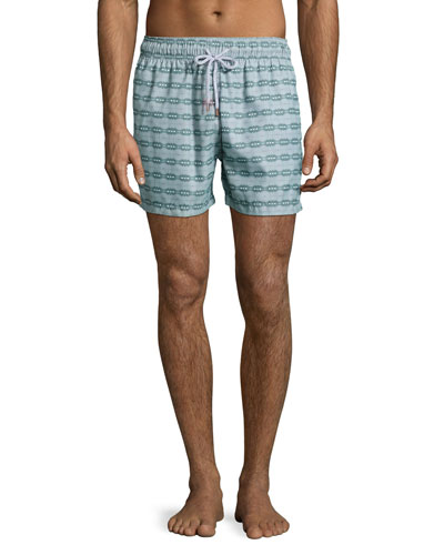 Guillauche Ball Printed Swim Trunks, Green