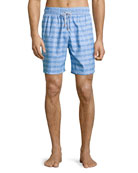 Guillauche Ball Printed Swim Trunks, Blue