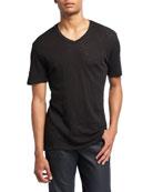 Slub Jersey V-Neck T-Shirt