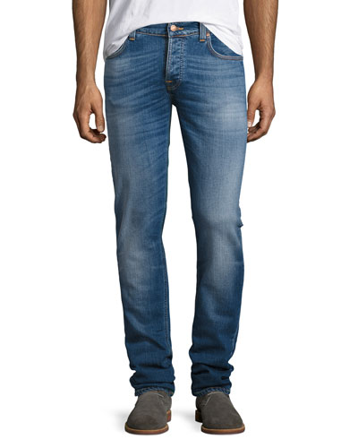 Grim Tim Slim Jeans, Orange Cloud