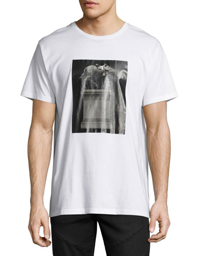 Horse Statue Graphic T-Shirt, White