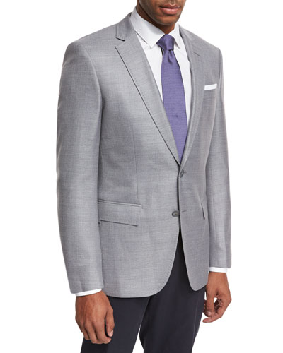 Mini-Check Wool Sport Coat, Gray
