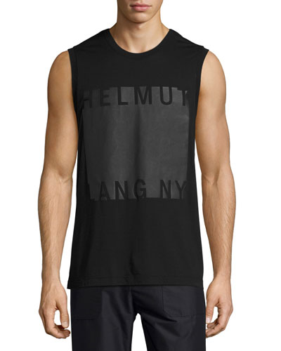 Coated Logo Muscle T-Shirt, Black