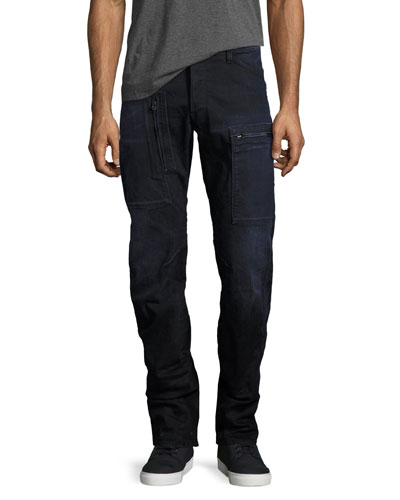 Powel 3D Tapered Jeans, Dark Aged