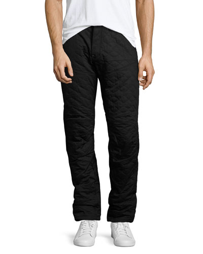 5620 Quilted 3D Tapered Pants, Black