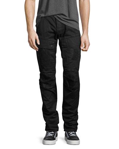 Air Defense 5620 3D Slim Cargo Jeans, Black