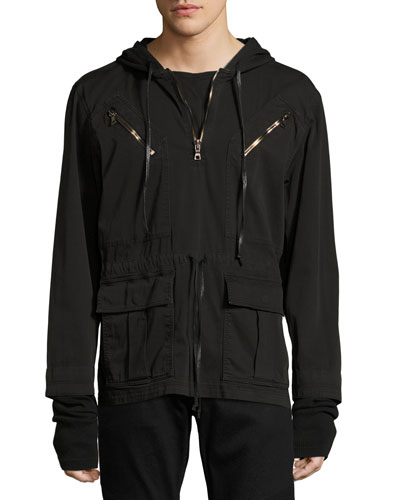 Mason Pullover Hooded Jacket, Black