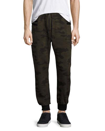 Holden Camo-Print Jogger Pants, Green