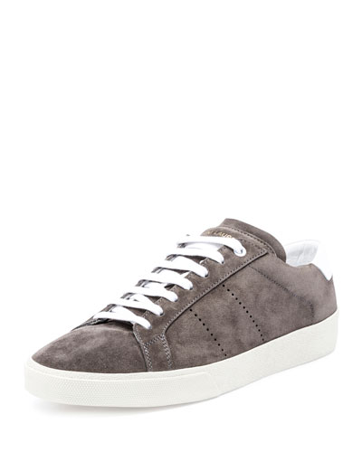 SL/06 Suede Low-Top Sneaker, Gray