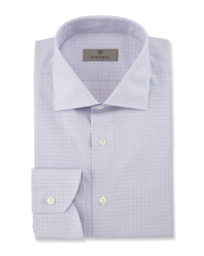 Modern Fit Graph Check Dress Shirt, Pink