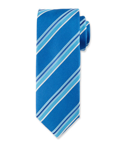 Multi-Stripe Silk Tie, Blue