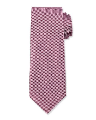 Micro-Dot Silk Tie, Mauve