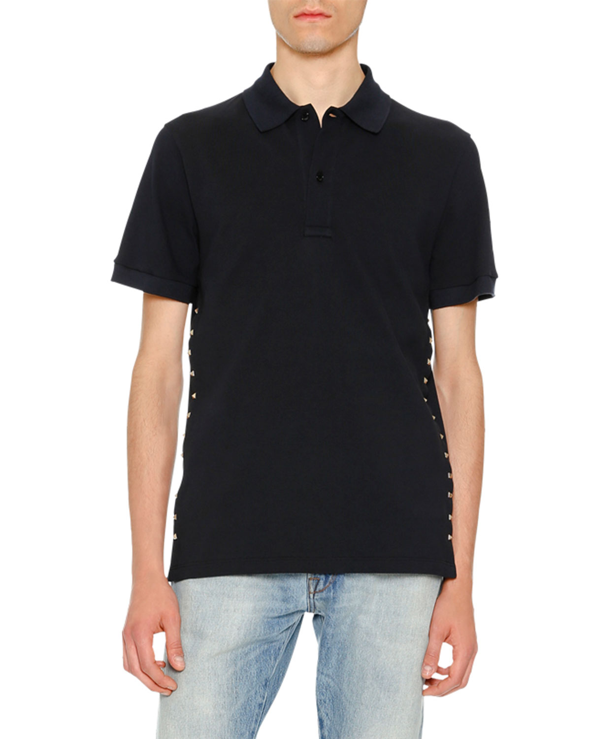 Rockstud Polo Shirt, Navy