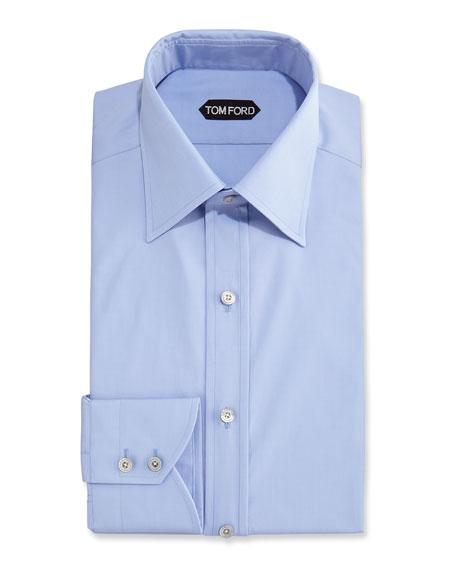 TOM FORD Slim-Fit Classic Dress Shirt, Blue
