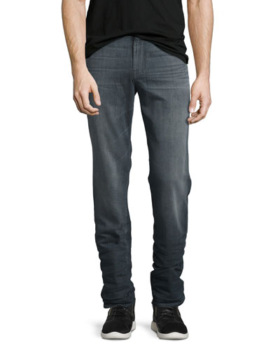 Straight-Leg FoolProof Denim Jeans, Wolf Gray