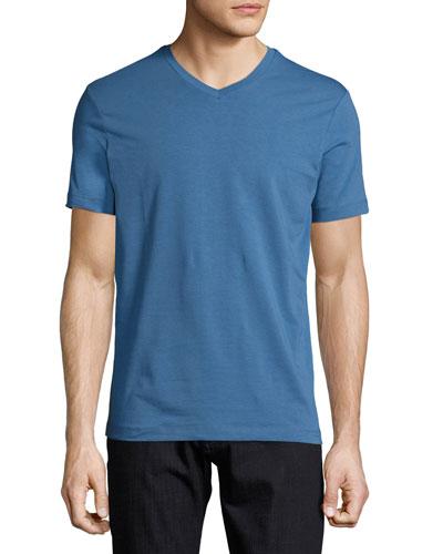 Jersey V-Neck T-Shirt, Blue