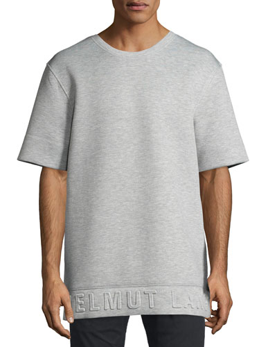 3D Logo Neoprene T-Shirt, Light Heather Gray
