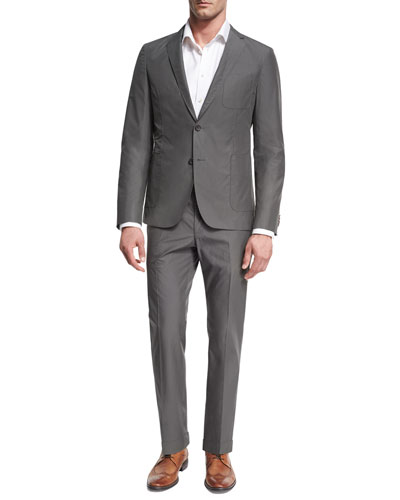 Cotton Two-Piece Suit, Gray
