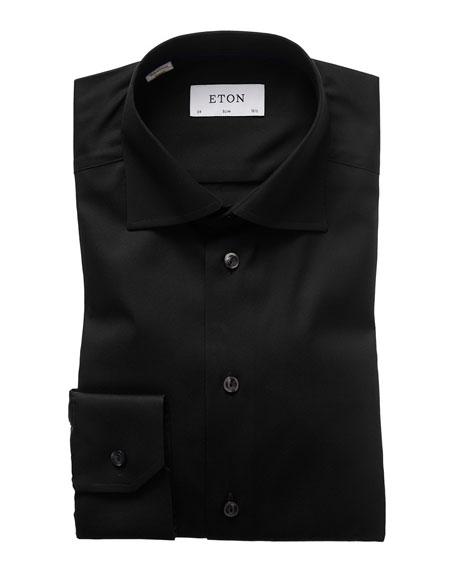 Eton Slim-Fit Twill Dress Shirt