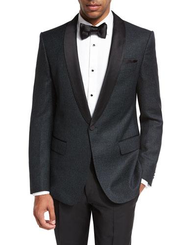 Deco Satin-Collar Tuxedo Jacket