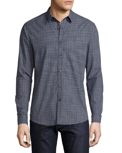 Zack Radnor Plaid Shirt, Navy