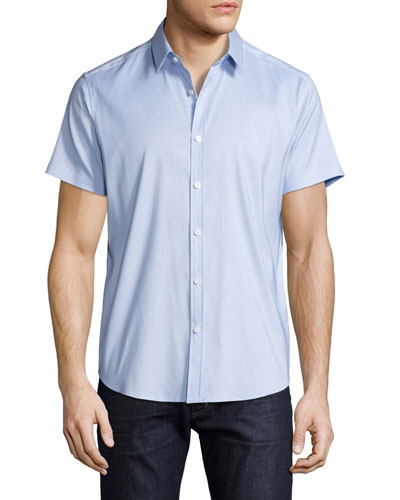Zack Orton Short-Sleeve Shirt, Light Blue