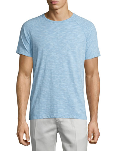 Dustyn Ocean Slub Raglan T-Shirt, Light Blue