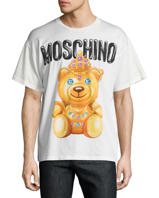Teddy Bear Logo T-Shirt, White