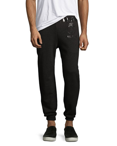 Moschino Logo Jogger Sweatpants, Black