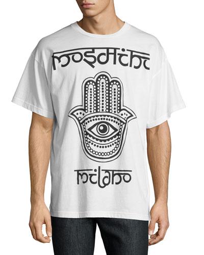 Hamsa Logo T-Shirt, White