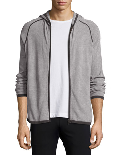 Melker Breach Zip Hoodie, Off-White Stripe