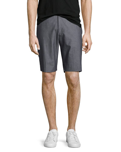Beck Hallstat Stretch-Cotton Shorts, Charcoal