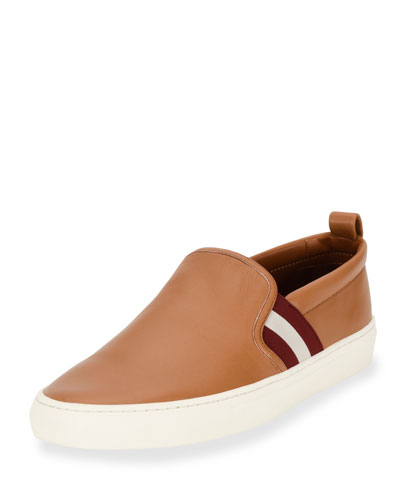 Herald Leather Slip-On Sneaker, Cuir/White