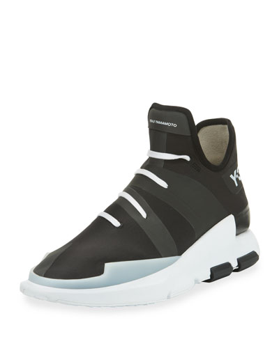 Men's Noci High-Top Sneaker, Black/White
