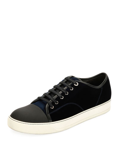Velvet Cap-toe Low-Top Shoe