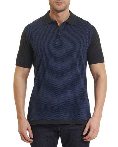 Ghiberti Colorblock Polo Shirt, Charcoal
